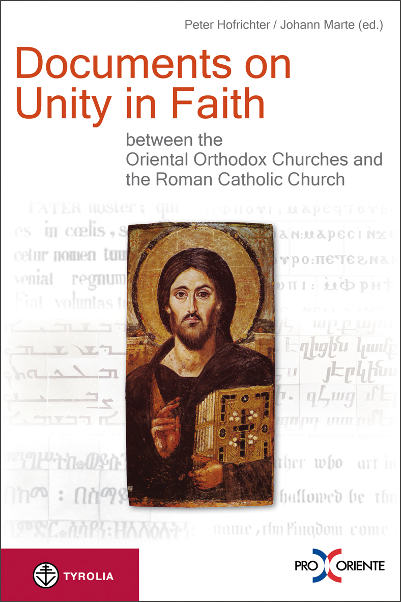 Cover Documents on Unity in Faith between the Oriental Orthodox Churches and the Roman Catholic Church